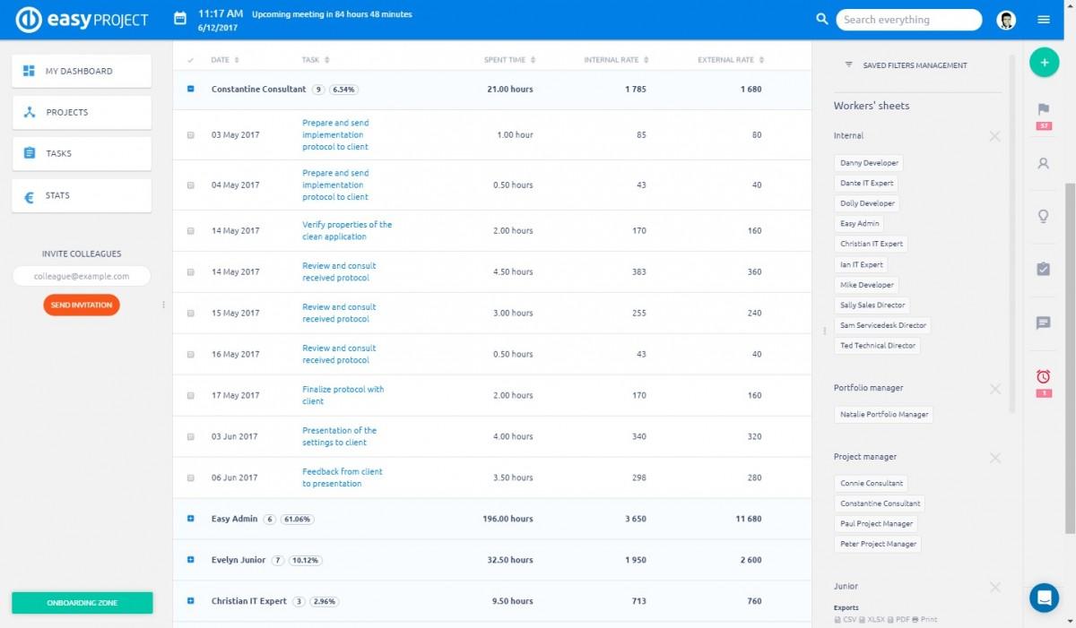 쉬운 프로젝트-급여 및 인보이스 시트