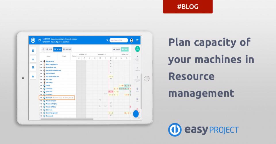 Plan capacity of your machines in Resource management