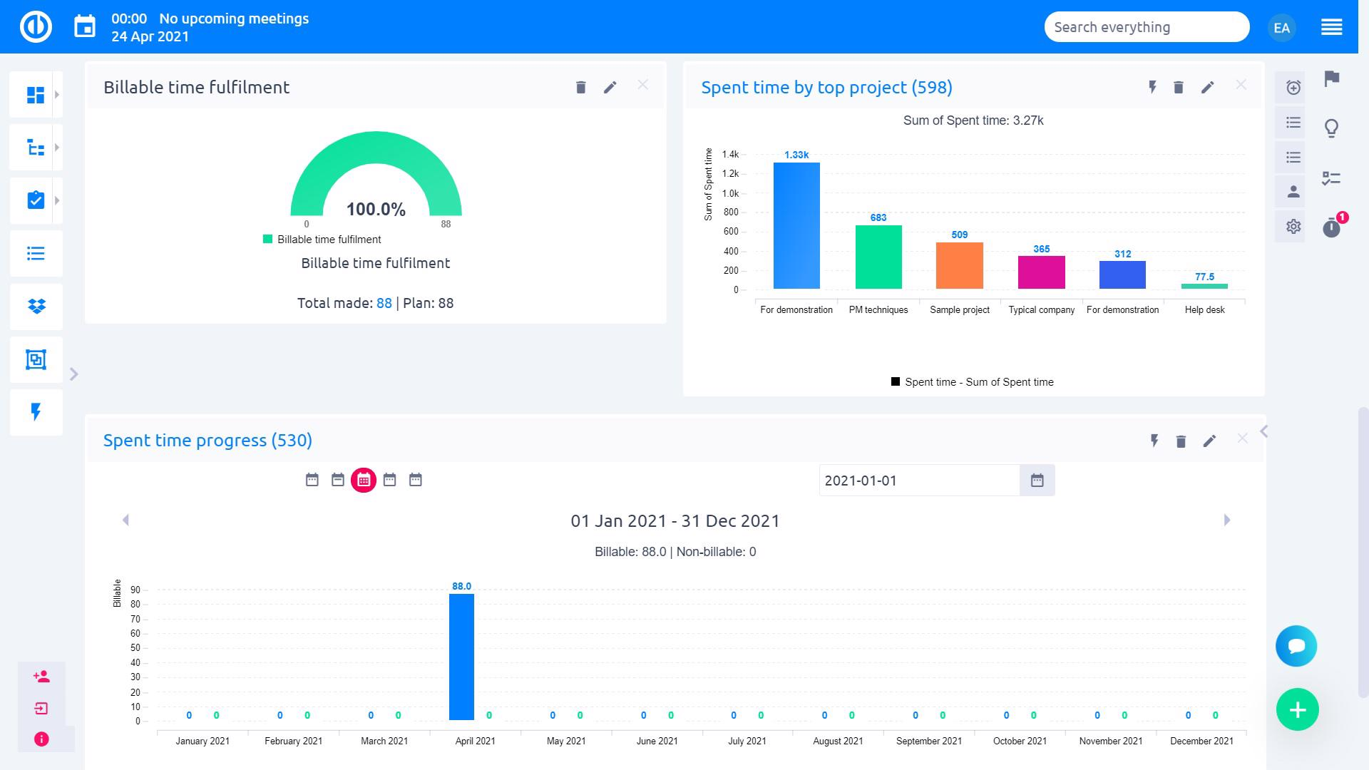 Easy Project – Time tracking and reporting for efficiency and planning