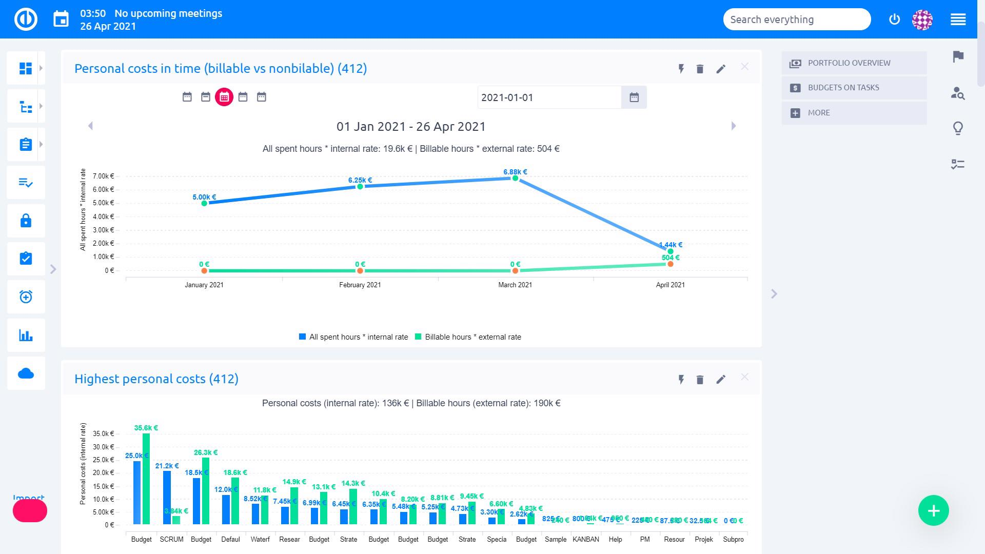 Easy Project – Sales Consultant Dashboard