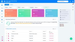 Easy Project - Dashboard til Help Desk Manager - Billetopgave ved hjælp af Action Buttons