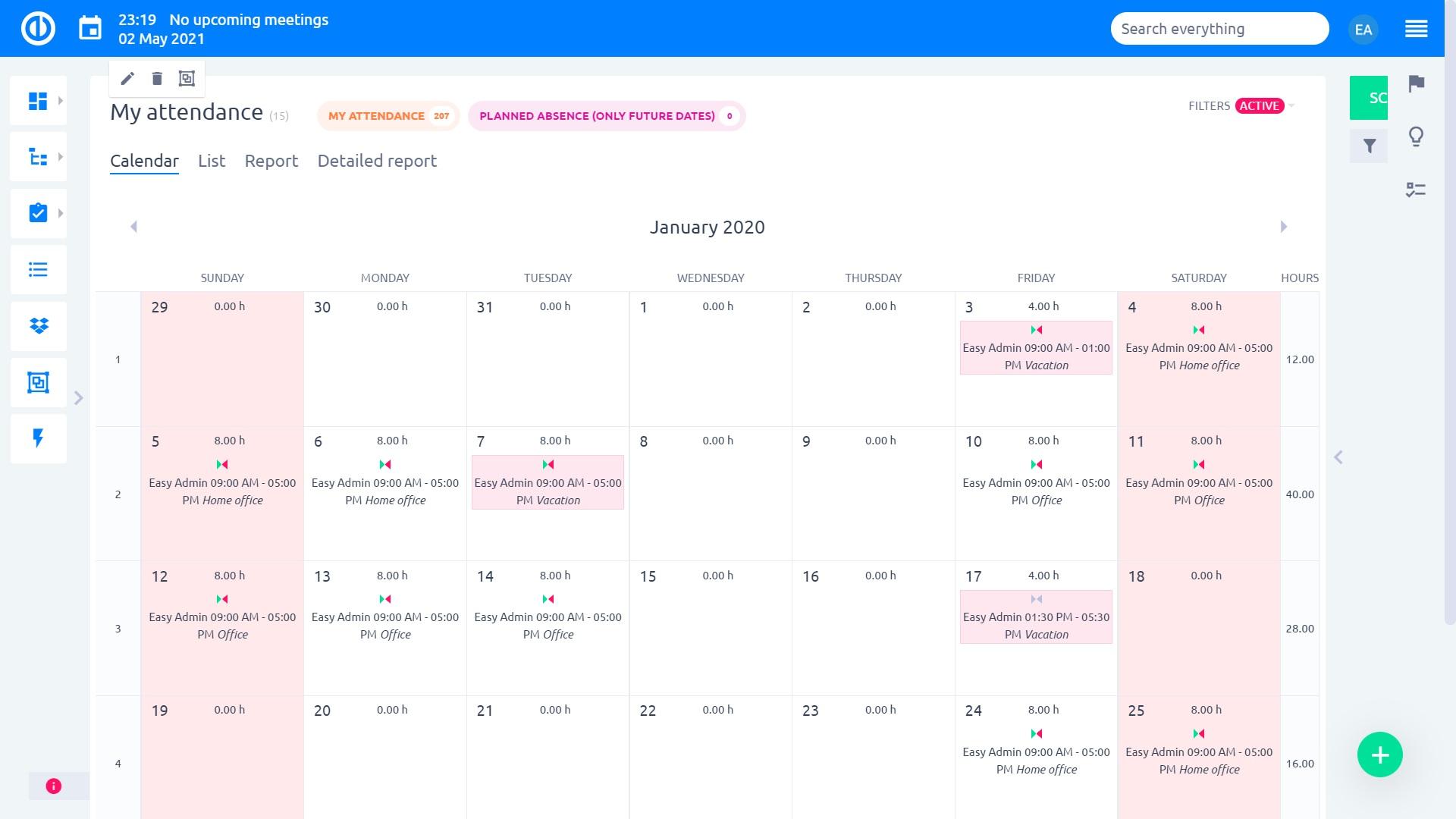 Łatwy projekt - zarządzanie obecnością dla wniosków o zatwierdzenie urlopu
