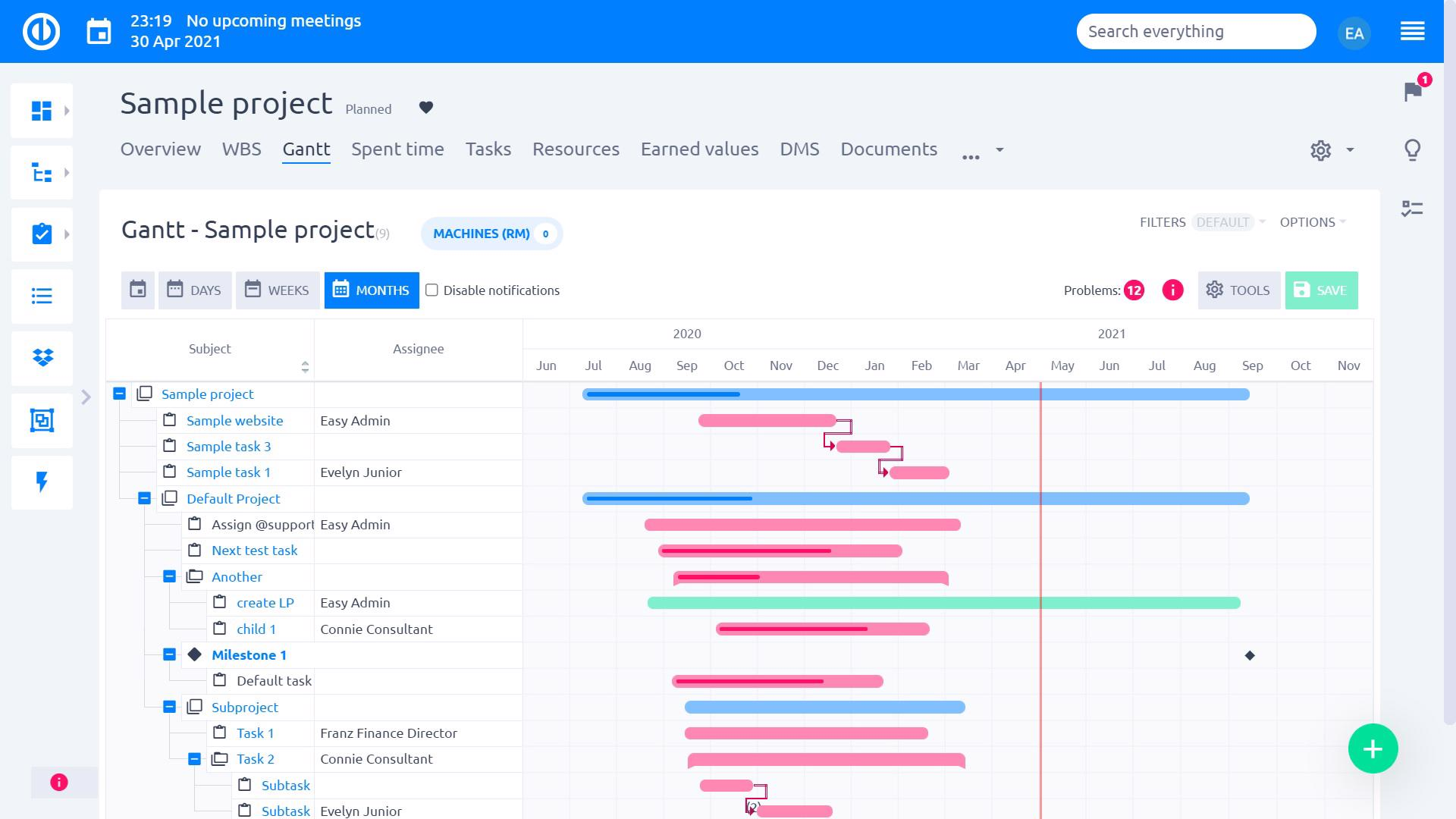 Easy Project – Gantt chart for easy project planning