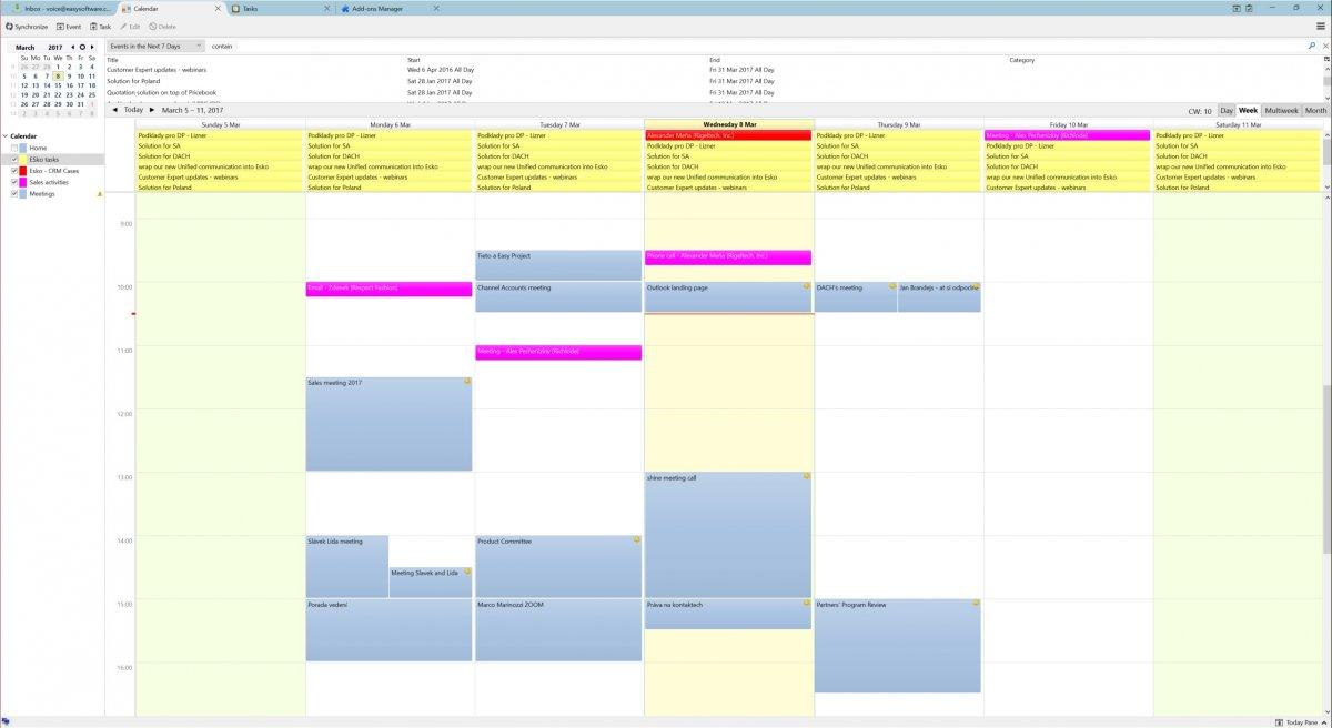 Easy Project 10 - Synchronizacja kalendarzy i kontaktów