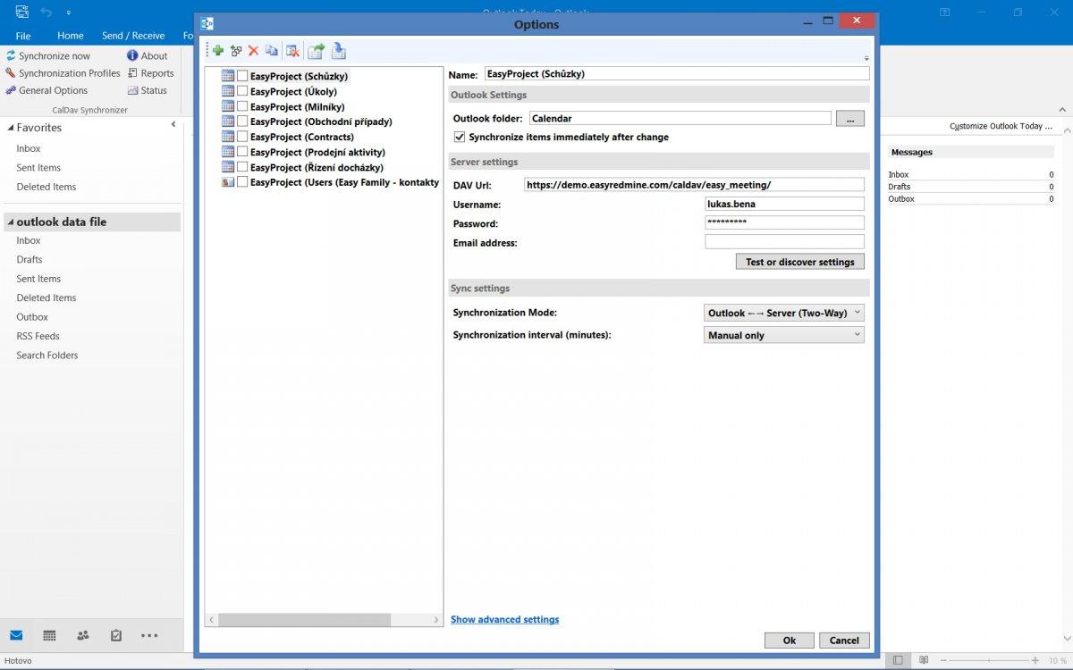 Easy Project 10 - wtyczka programu Outlook - kalendarz