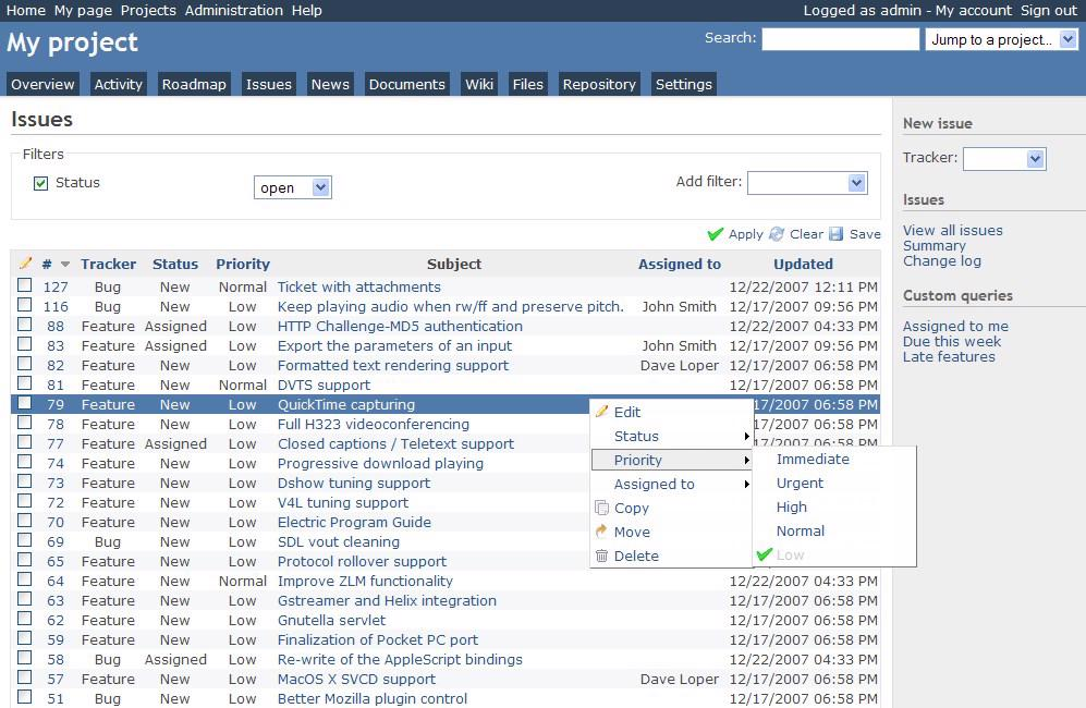 Easy Project 10 - import danych z Redmine #1