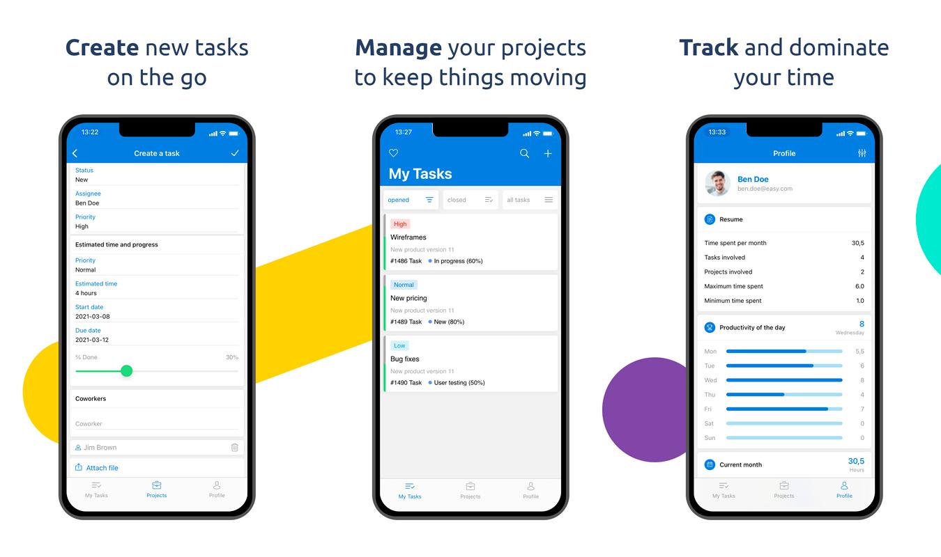 Easy Project mobilalkalmazás