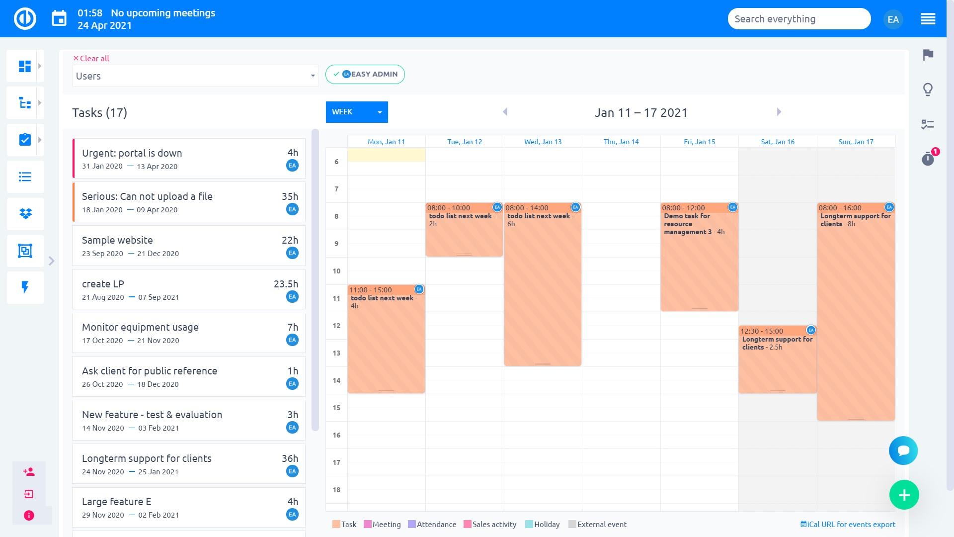 Łatwy projekt - harmonogram