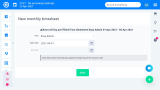 Easy Project 10 - Timesheets - muligheder