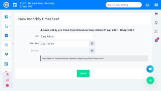 Easy Project 10 - Zaman Çizelgeleri - seçenekler