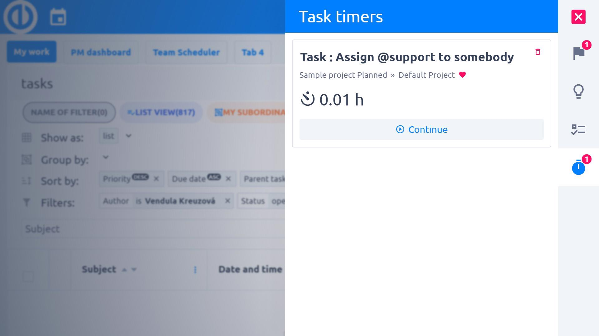 Easy Project – Stopwatch for exact time tracking